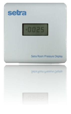 Setra公司发布全新洁净室专用面板显示型微差压传感器SRPD